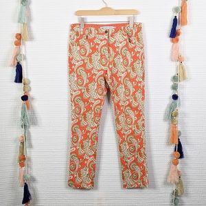 Gretchen Scott Paisley Gripe Less Jeans